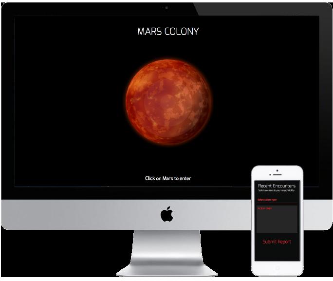 angular app home page